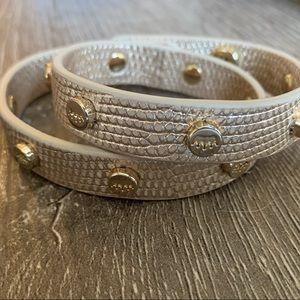 NWOT Elaine Turner Champagne Wrap Bracelet